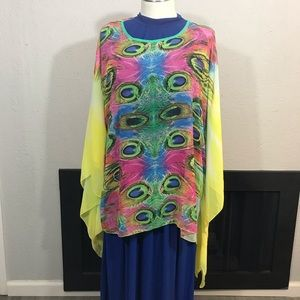 Selfie Couture NWT Overlay Kimono size L